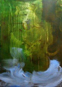 Narcisse (autoportrait) - peinture à l'aveugle, huile sur toile sur châssis 155x110 cm - 2003-2009