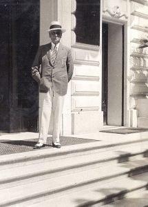 Louis Gassin, président de l' Artistique, mon grand-père