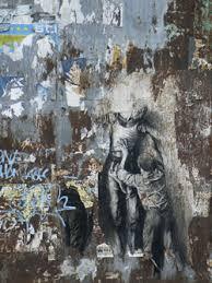 Ernest Pignon-Ernest, Parcours Jean Genet, Port De Brest, Juin 2006 - Sérigraphie En Situation © ADAGP, Paris, 2016