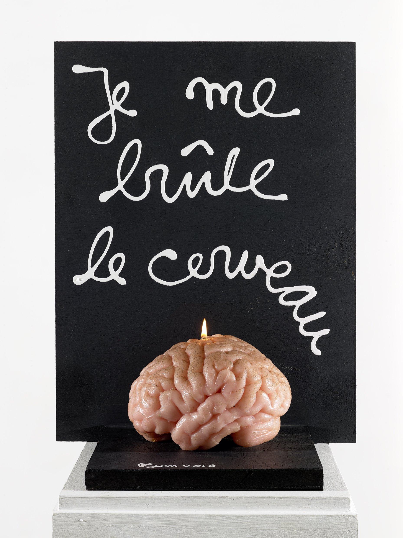 Benjamin Vautier Dit Ben Je Me Brûle Le Cerveau 2016 Technique Mixte