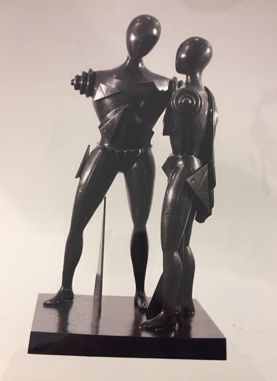 © Giorgio De Chirico, Ettore E Andromaca, Bronze, H 175 Cm, N°8/9 Galleria Hernandez