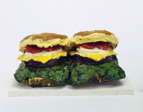 "Claes Oldenburg ""Two Cheeseburgers With Everything"", 1962"