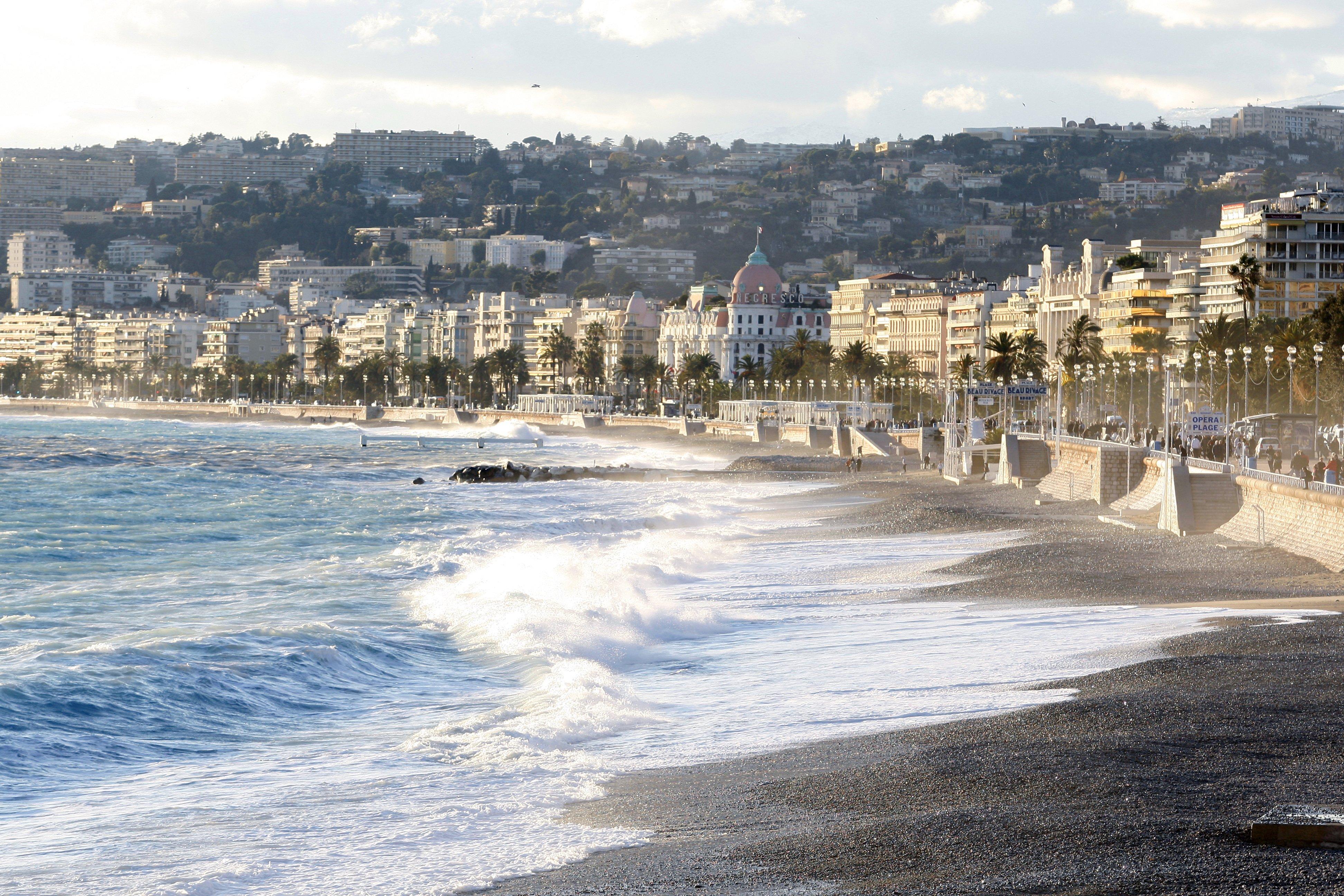 Vue Generale Sur La Promenade Des Anglais