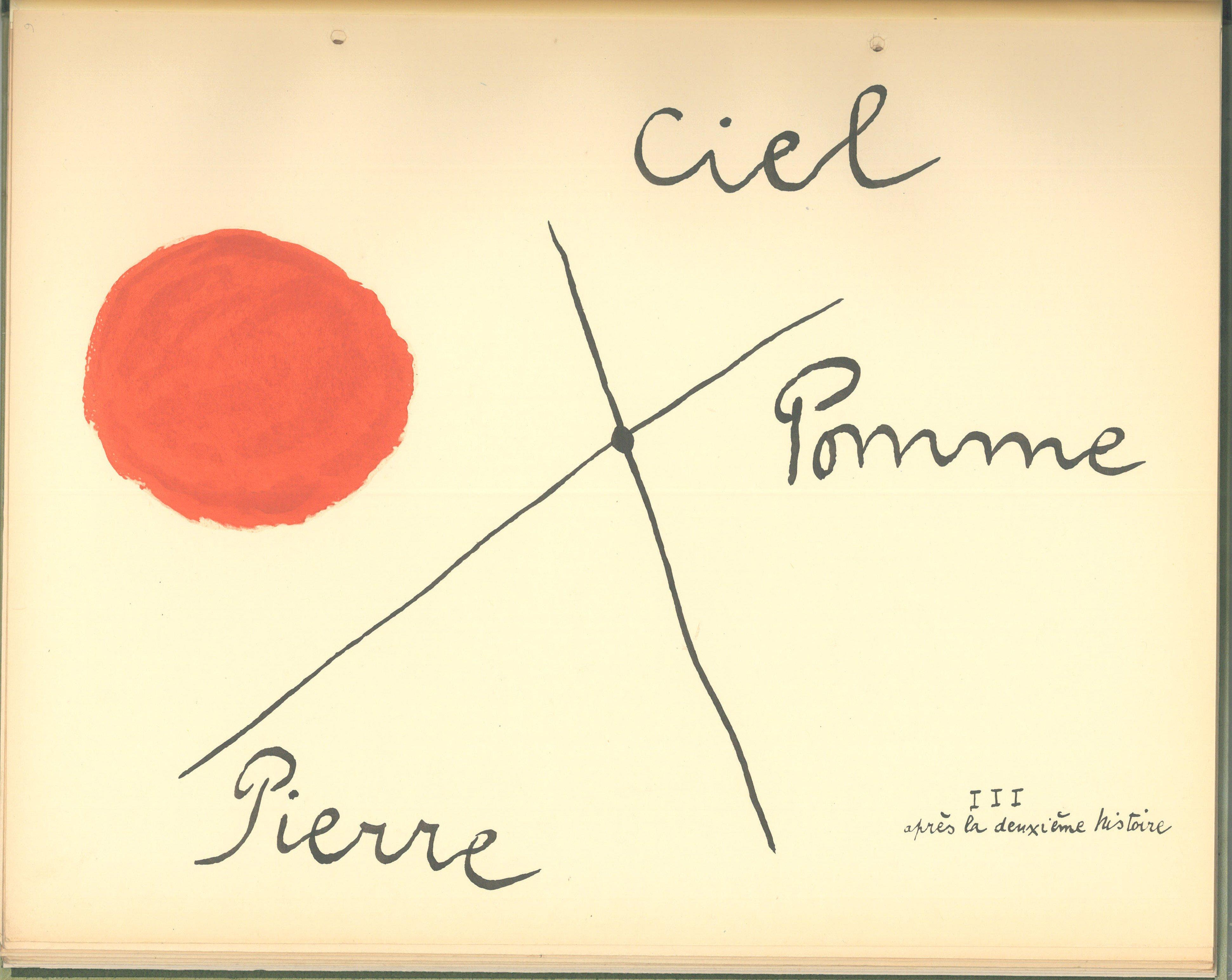 """Juan Miró """"Il-était-une-petite-pie"""", Texte De Lise-Hirtz, 1928"""