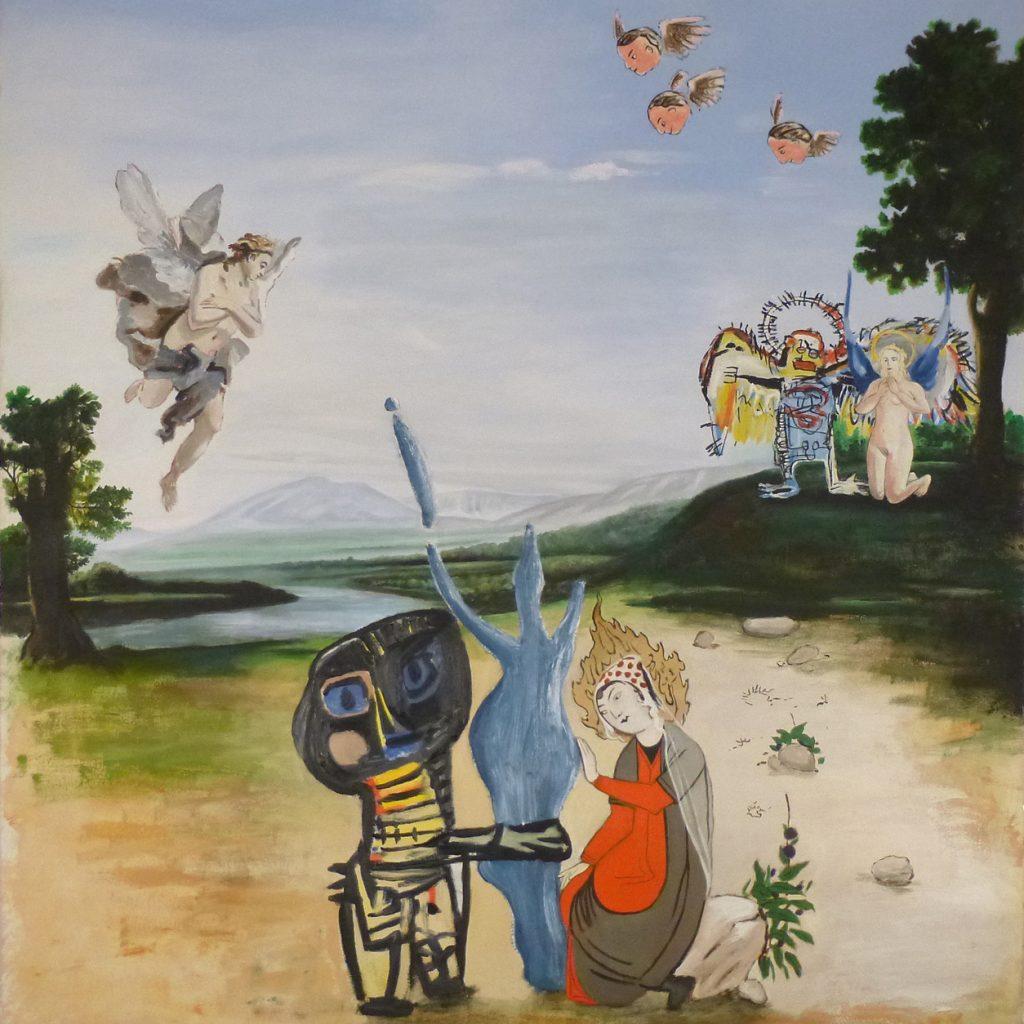 """Alun Williams, """"Trois Saintes Vierges Assistées Par Des Anges"""", 2014"""