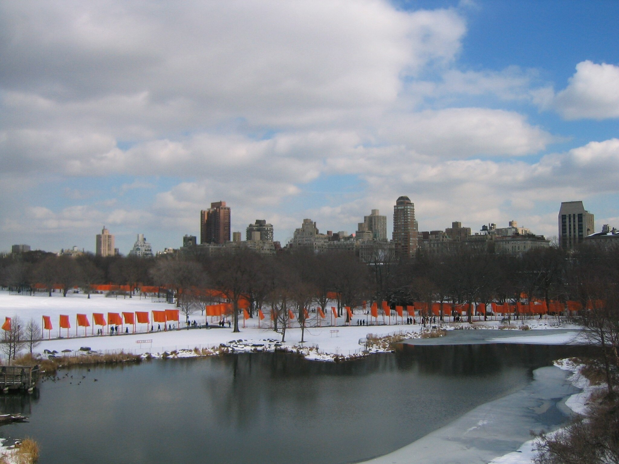"Christo, "" THE GATES"", CENTRAL PARK NEW YORK CITY,  Photo AB"
