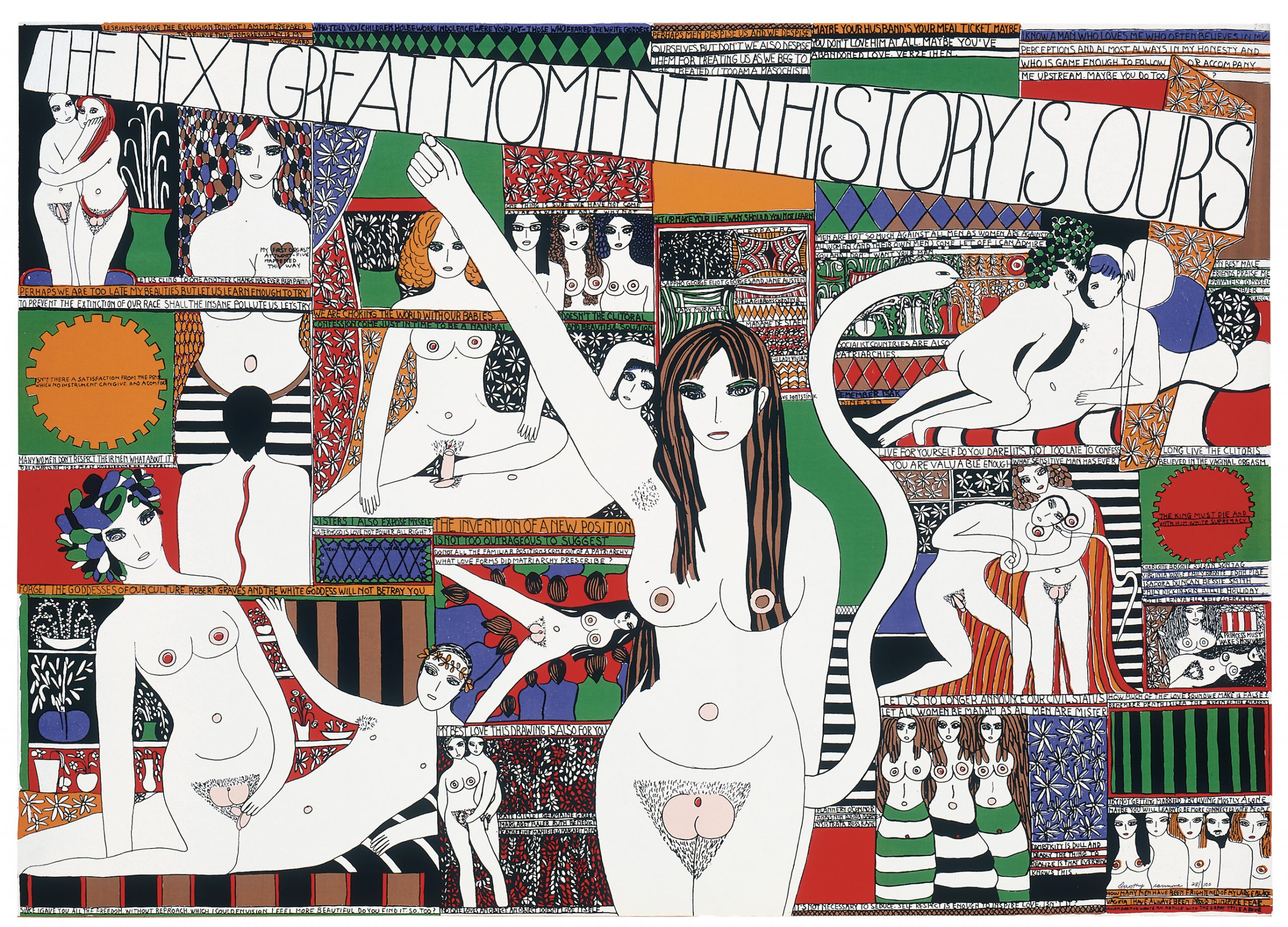 "Dorothy Iannone ""The Great Moment In History Is Ours, 1970"