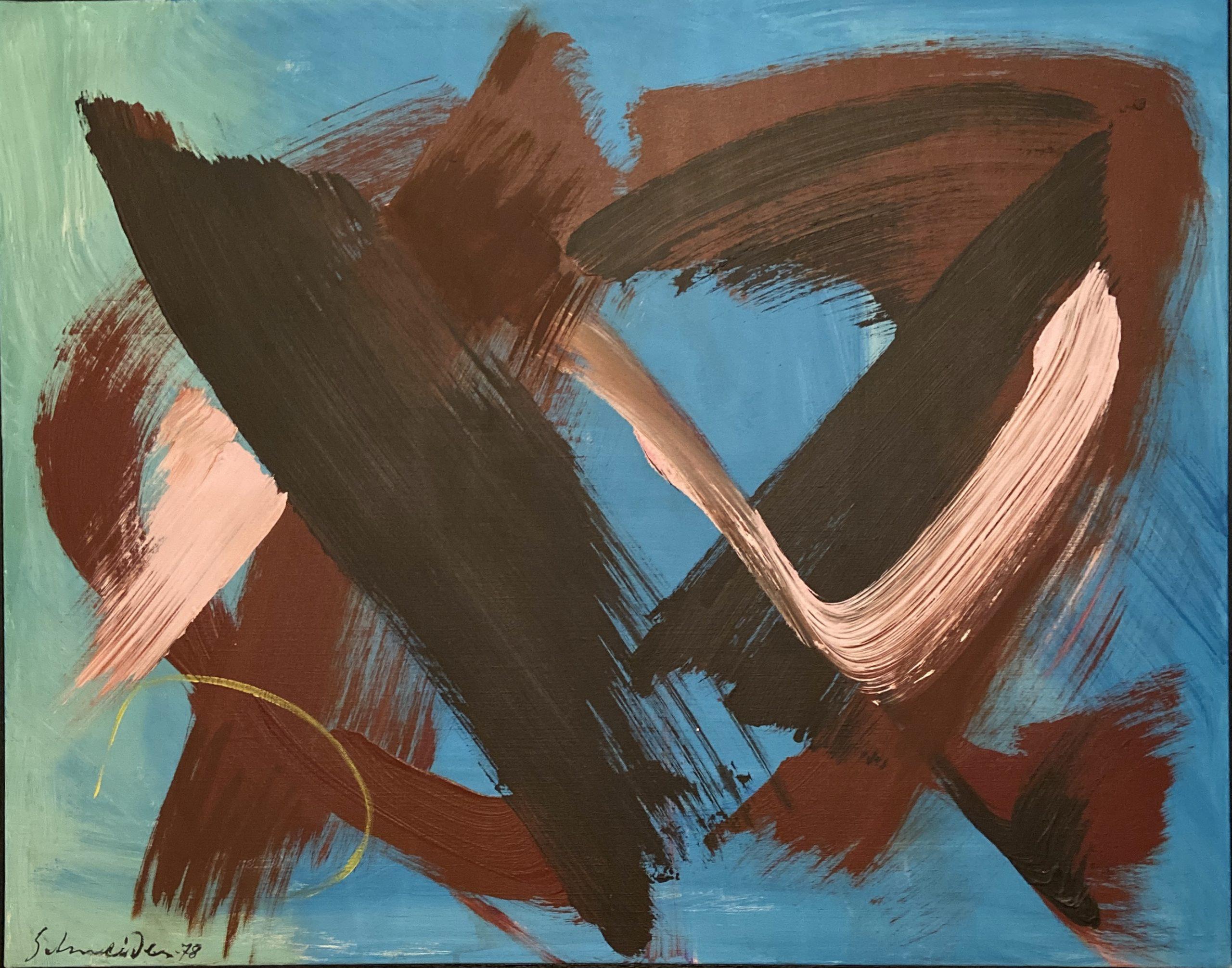 """Gérard SCHNEIDER """"Composition 23M"""", 1978, Acrylique Sur Toile"""